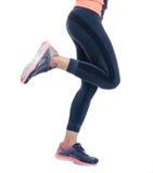Closeup image of female fitness legs Stock Photo