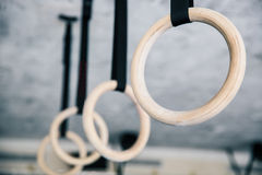 Closeup image of a fitness rings Stock Photography