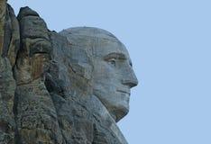 Closeup Image of George Washington at Mt Rushmore. Closeup image of side view of George Washington at Mt Rushmore National Memorial Royalty Free Stock Image