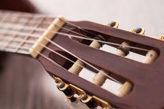 Closeup image of guitar fingerboard Stock Photography