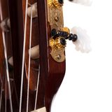 Closeup image of guitar fingerboard. Closeup image of acoustic guitar fingerboard Stock Photo