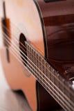 Closeup image of guitar fingerboard. Closeup image of acoustic guitar fingerboard Royalty Free Stock Photos