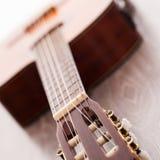 Closeup image of guitar fingerboard. Closeup image of acoustic guitar fingerboard Stock Image