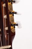 Closeup image of guitar fingerboard Royalty Free Stock Photo
