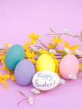 Closeup image of hand painted Easter eggs Royalty Free Stock Photography