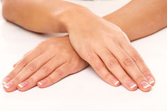 Closeup image of hands in SPA Royalty Free Stock Photo