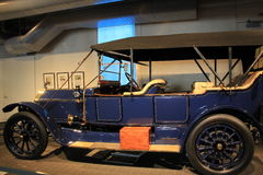 Closeup image of impeccable upkeep of 1913 American Fiat,Saratoga Automobile Museum,Saratoga,New York,2015 Royalty Free Stock Image