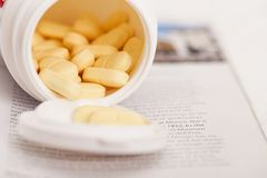Closeup image of medicine pills Stock Photography