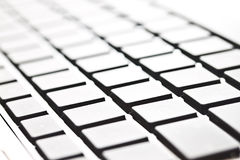 Closeup image of modern style computer keyboard Stock Photography