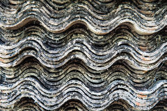 Closeup image of old tile stack Stock Images