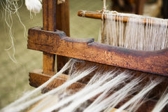 Closeup image of an old weaving Loom Royalty Free Stock Photos