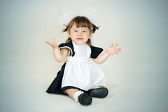 Closeup image of a pretty little school girl Royalty Free Stock Photography