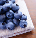 Closeup Image of Blueberries on the Fabric Serviette Royalty Free Stock Image