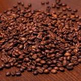Closeup image of roasted coffee grains Stock Image