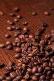 Closeup image of roasted coffee grains Royalty Free Stock Image