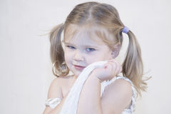 Closeup image of a smiling beautiful little girl Stock Photography