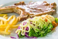 Closeup image of steak dish Stock Photo