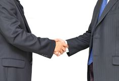 Two businessman handshake royalty free stock photos