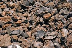 Closeup image of volcanic foam on Santorini island Stock Image