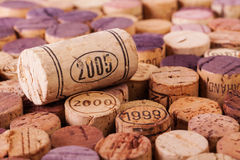 Closeup image of wine bottle cork Stock Photography