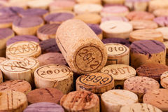 Closeup image of wine bottle corks Royalty Free Stock Images