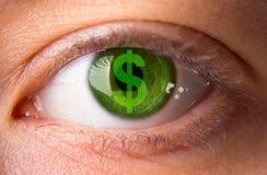 Closeup image of a woman eye stock image