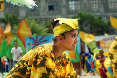 Closeup images of various faces in diverse costumes of street dancer. Tiaong, Quezon, Philippines - June 22, 2016: Closeup images of various faces in diverse Royalty Free Stock Photography