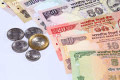 Closeup of Indian currency notes Stock Images