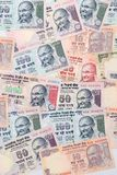 Closeup of indian currency notes Stock Photos