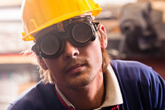 Closeup of an industrial worker Royalty Free Stock Image
