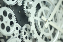 Closeup of inner clock gears Stock Image
