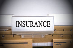 Closeup of Insurance Folder Index Tab Royalty Free Stock Images