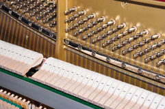 Closeup of the internals of a piano Royalty Free Stock Images