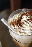 Closeup of an inviting chocolate drink or dessert Royalty Free Stock Image