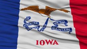 Closeup Iowa Flag, USA state Royalty Free Stock Photos