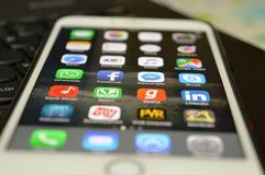 Closeup of Iphone Icons and Buttons Royalty Free Stock Images