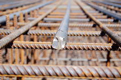 Closeup of iron beam Stock Photo