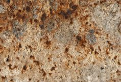 Closeup of iron with strong corrosion for background. Gray and rusty rust stains penetrate deep into the iron stock photos