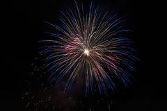 Closeup of isolated fireworks for compositing. Into your art Stock Photography