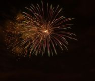 Closeup of isolated fireworks for compositing. Into your art Stock Images