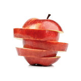 Closeup Isolated Sliced Red Apple Royalty Free Stock Photos