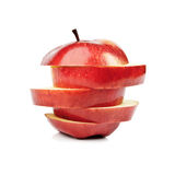 Closeup Isolated Sliced Red Apple Royalty Free Stock Photo