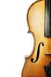 Closeup isolated violin Stock Images