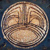 Closeup of Israeli ceramic dish in retro style. Royalty Free Stock Photos