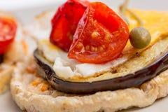 Closeup of Italian appetizer Stock Images