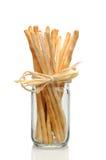 Breadsitcks in Jar Stock Photography