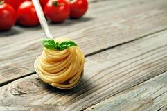 Closeup of Italian pasta Stock Photography