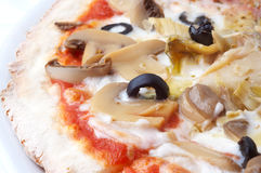 Closeup of italian pizza Royalty Free Stock Photos