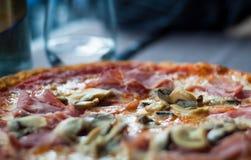 Closeup Italian Pizza Royalty Free Stock Photo