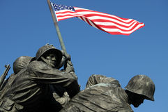 Closeup of Iwo Jima Memorial Stock Image